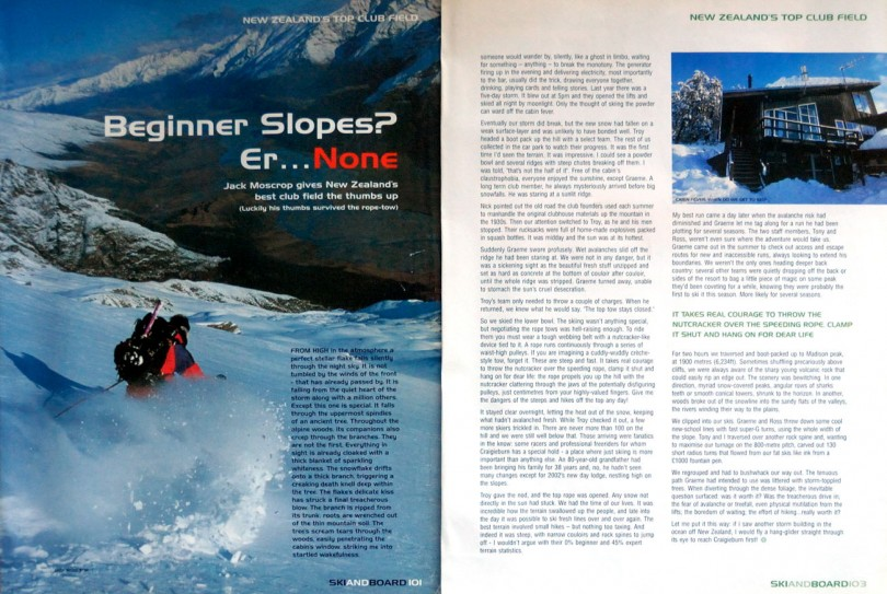 craigieburn skiing, new zealand, adventure travel writer, jack moscrop