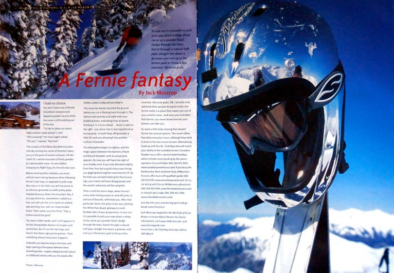 fernie ski resort, backcountry skiing, adventure travel writer, jack moscrop