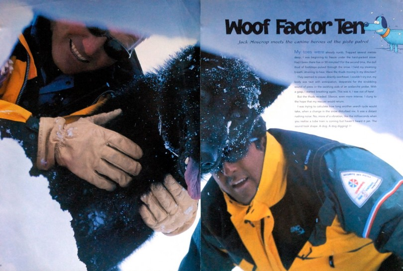 ski france, rescue dogs, adventure travel writer, jack moscrop